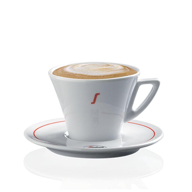 Ceramic cappuccino coffee cup